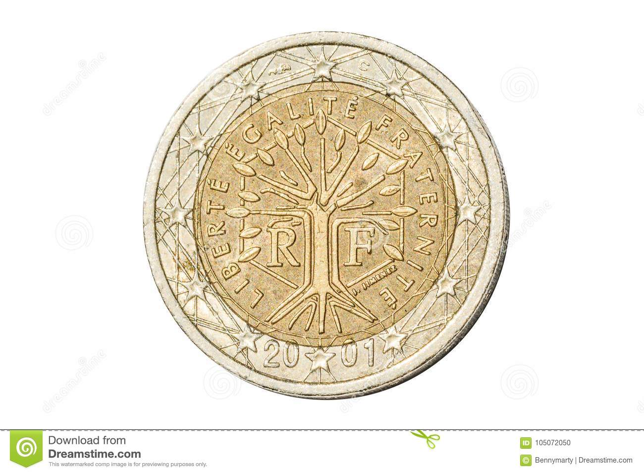 Symbol of france currency gallery symbol and sign ideas france two euro coin stock photo image of isolated 105072050 royalty free stock photo buycottarizona biocorpaavc