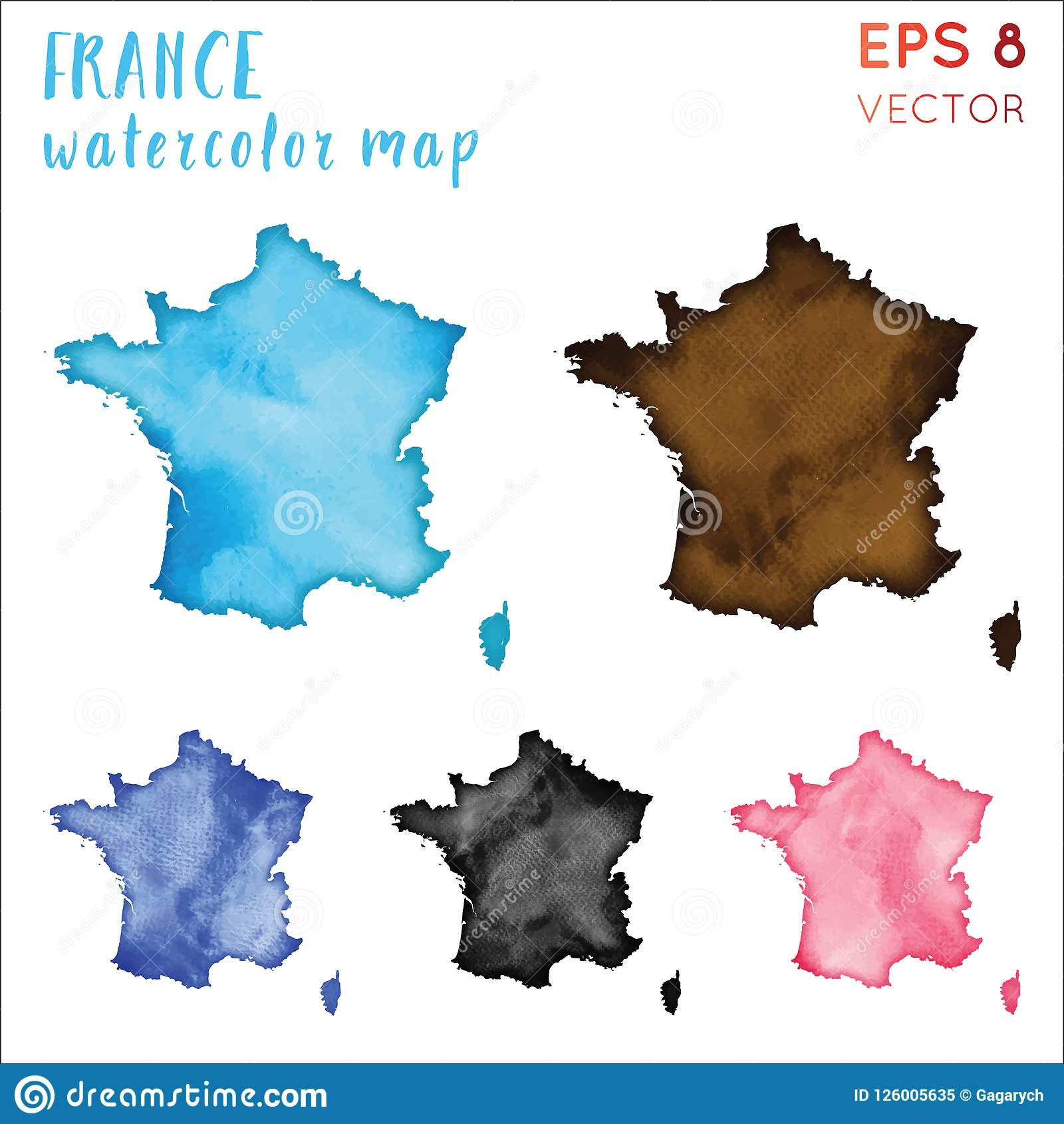 Country Map Of France.France Watercolor Country Map Stock Vector Illustration Of