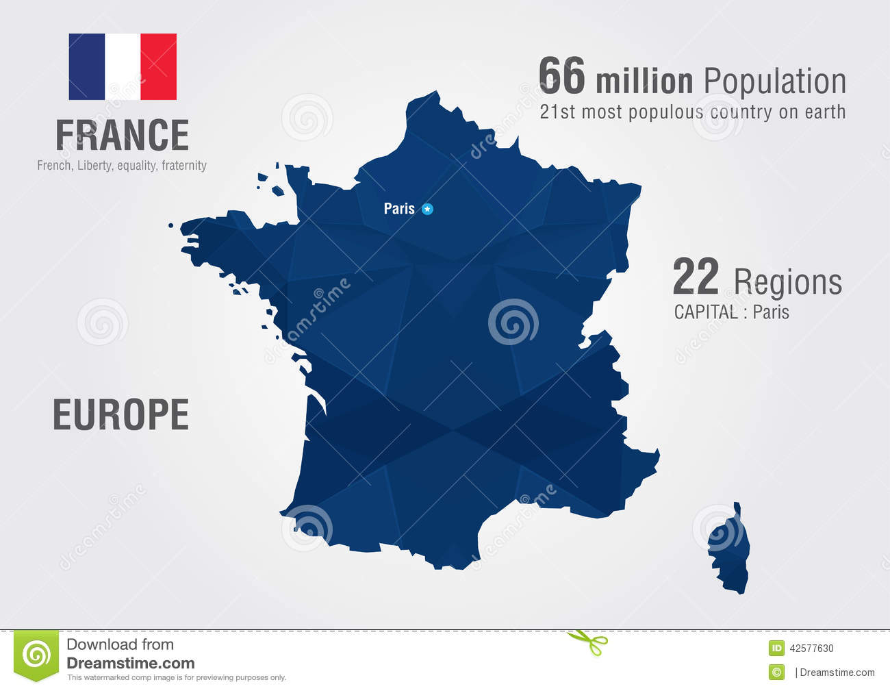 France World Map With A Pixel Diamond Texture Stock Photo Image 42577630