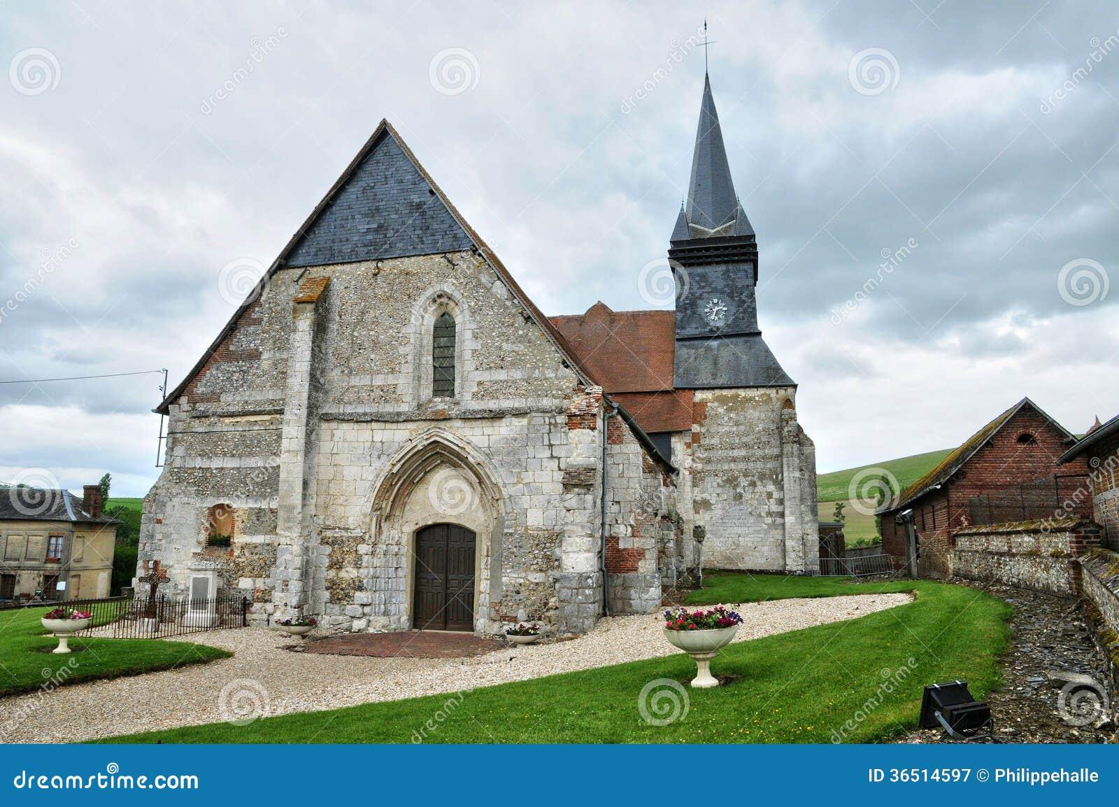 Frances, église historique de braillement d en de Sigy