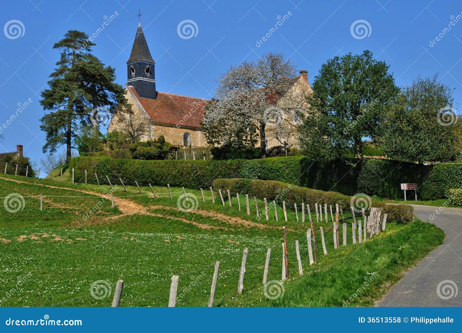 Frances, église historique de l Hermitiere dans Normandie