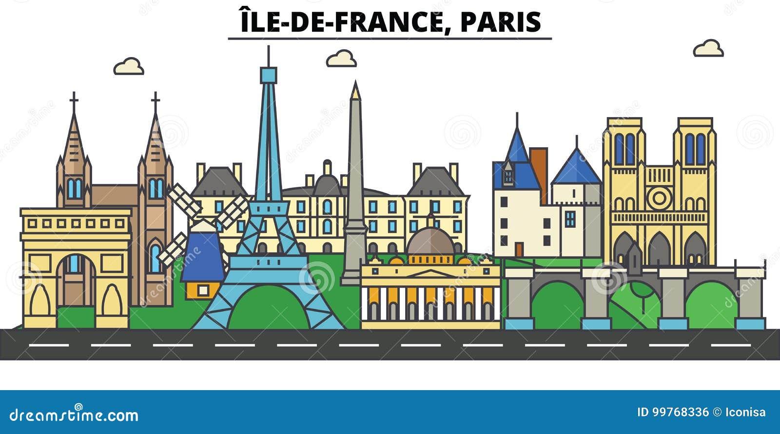 Frances, Paris, Ile de France Architecture d horizon de ville