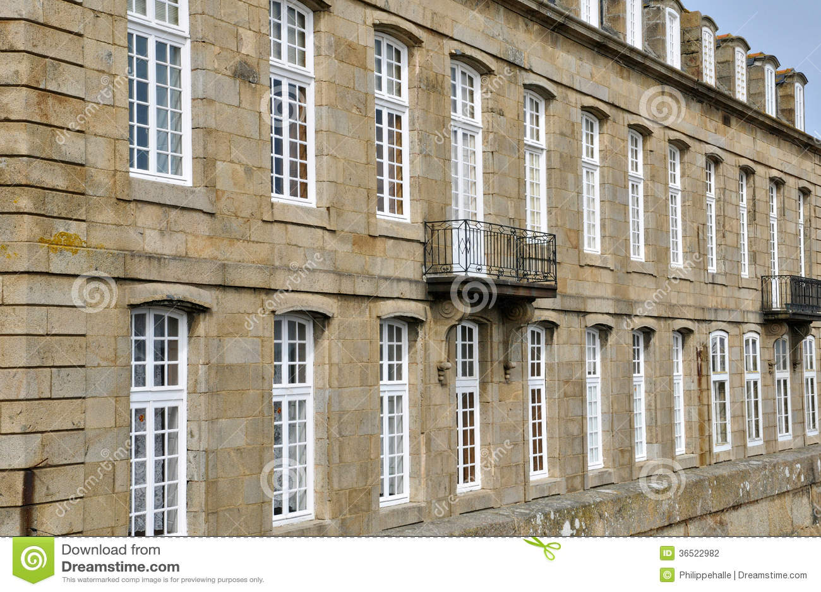 Frances, ville pittoresque de Saint Malo dans la Bretagne