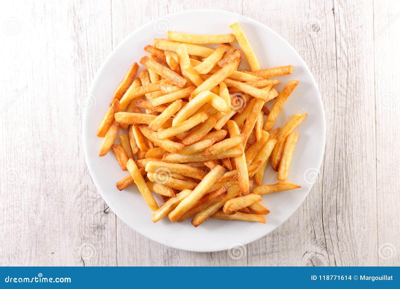 Francese fritto sul piatto