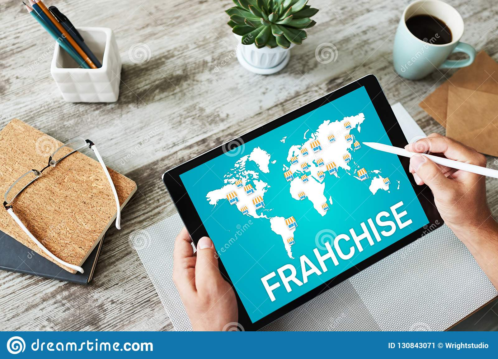 Franchise Business Model And Marketing Strategy Concept