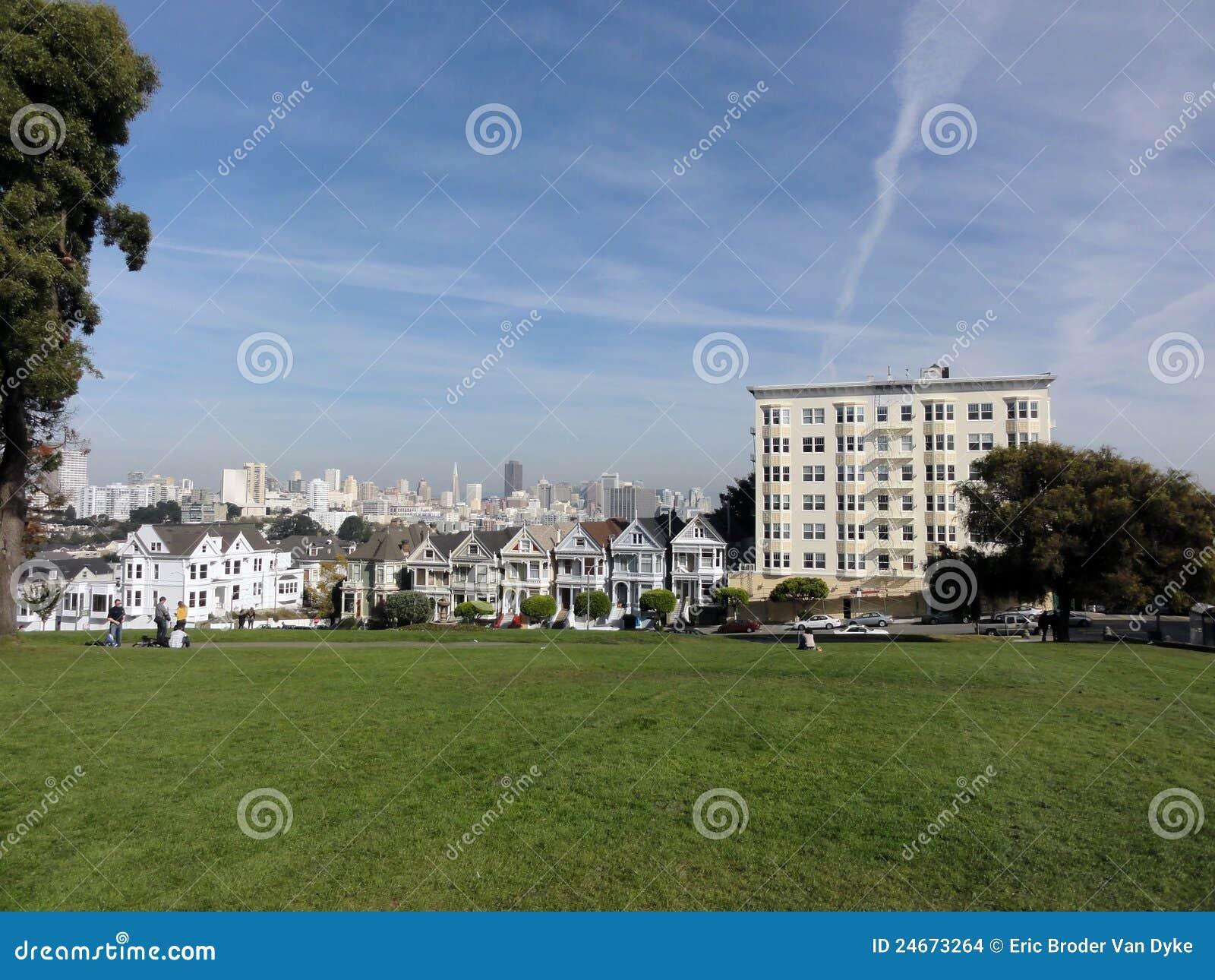 Francisco houses den laides målade san victorianen