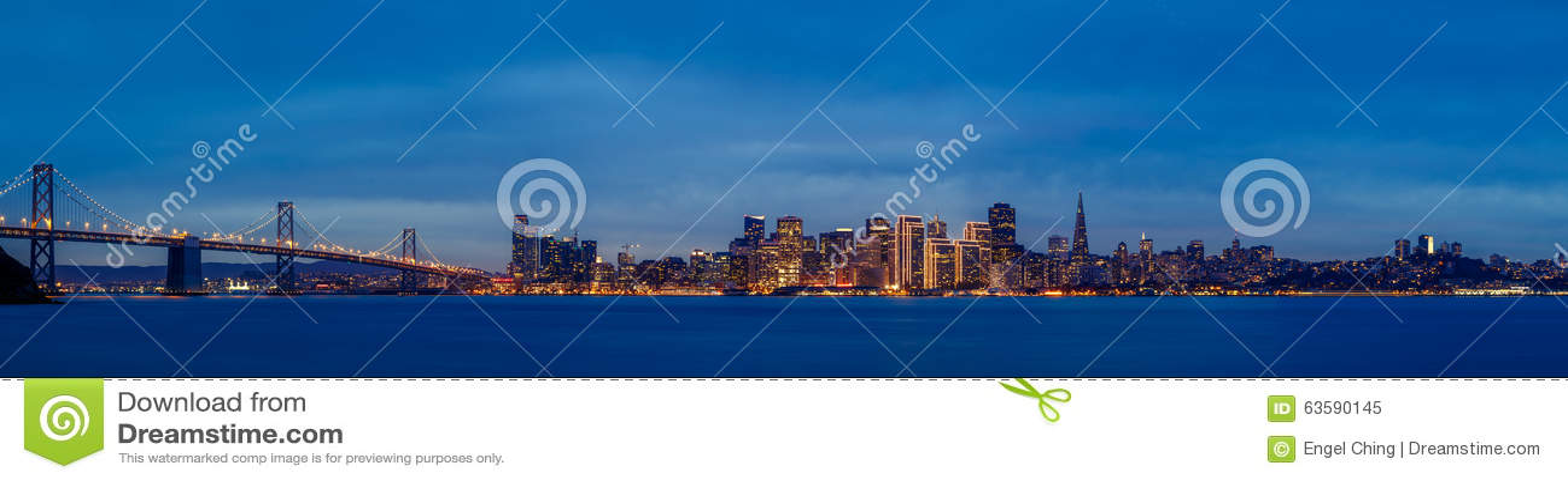 Francisco-Skyline an der Dämmerung