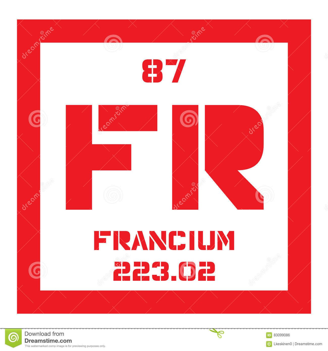 Francium chemisch element