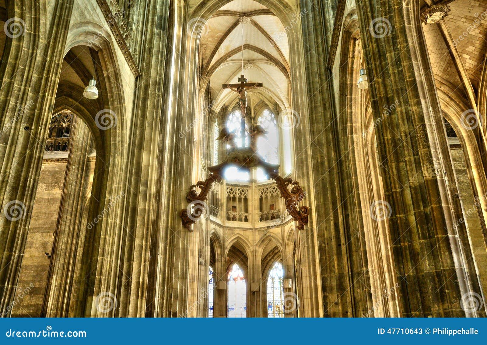 Francja malowniczy miasto Rouen w Normandie