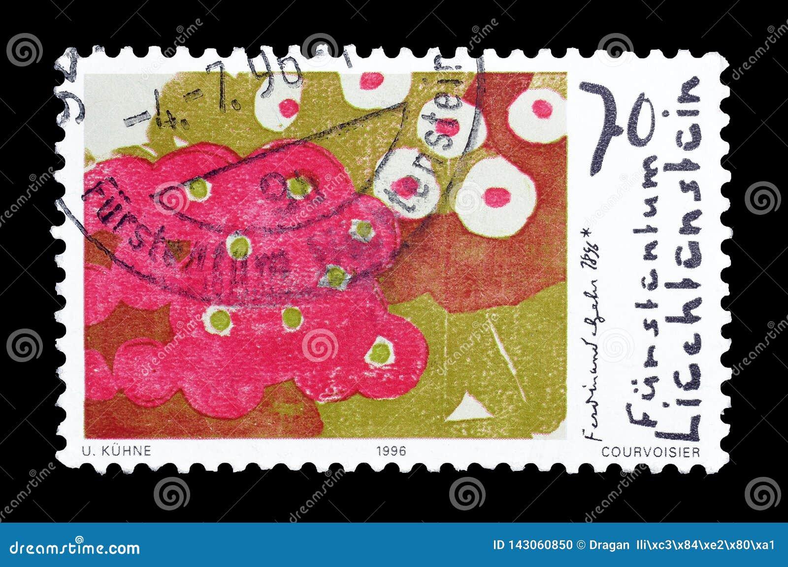 Francobollo stampato dal Liechtenstein