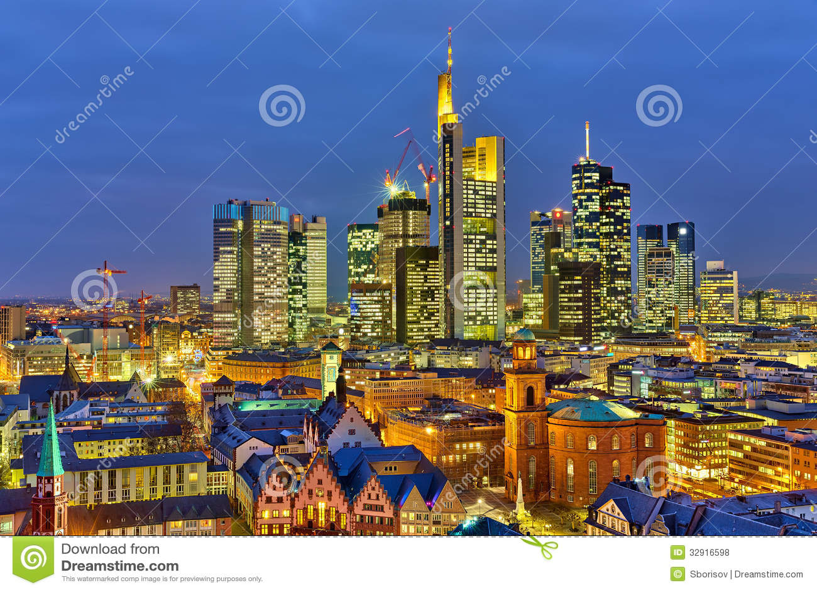 Francoforte na noite