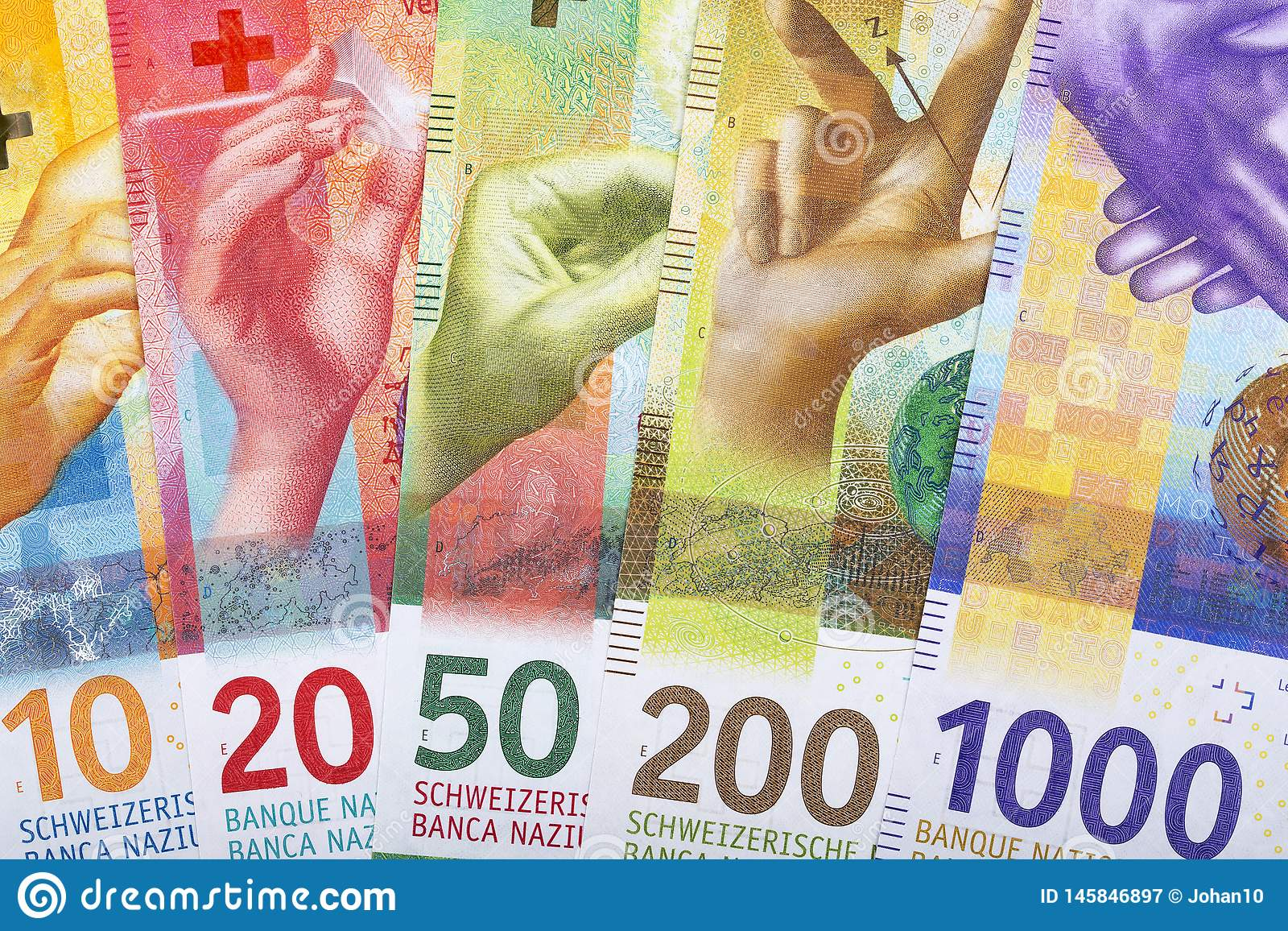 Francos suíços novos, um fundo