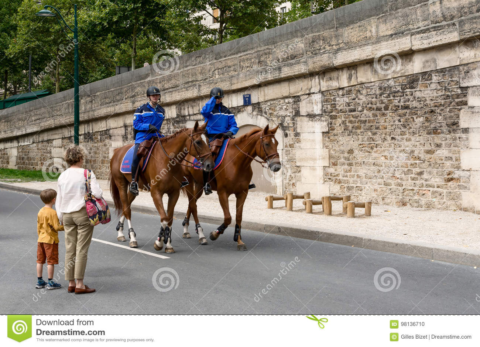Francuska żandarmeria na horseback