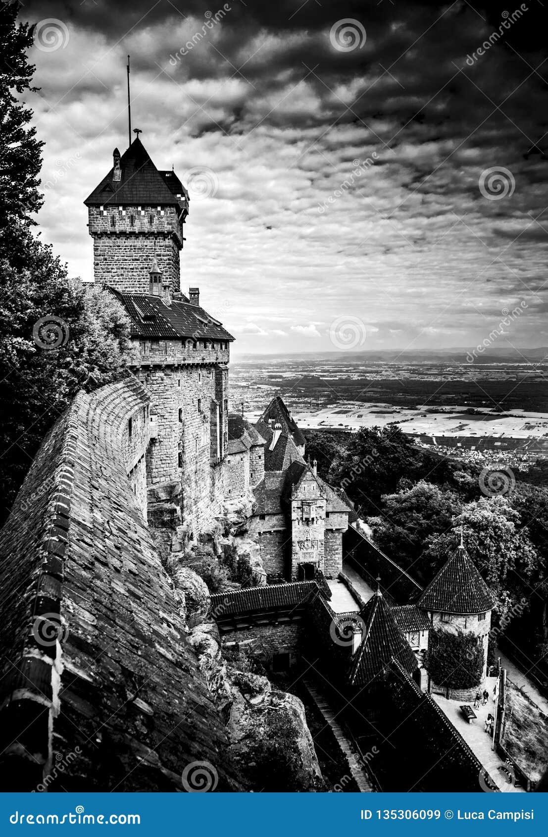 Francuski średniowieczny castel