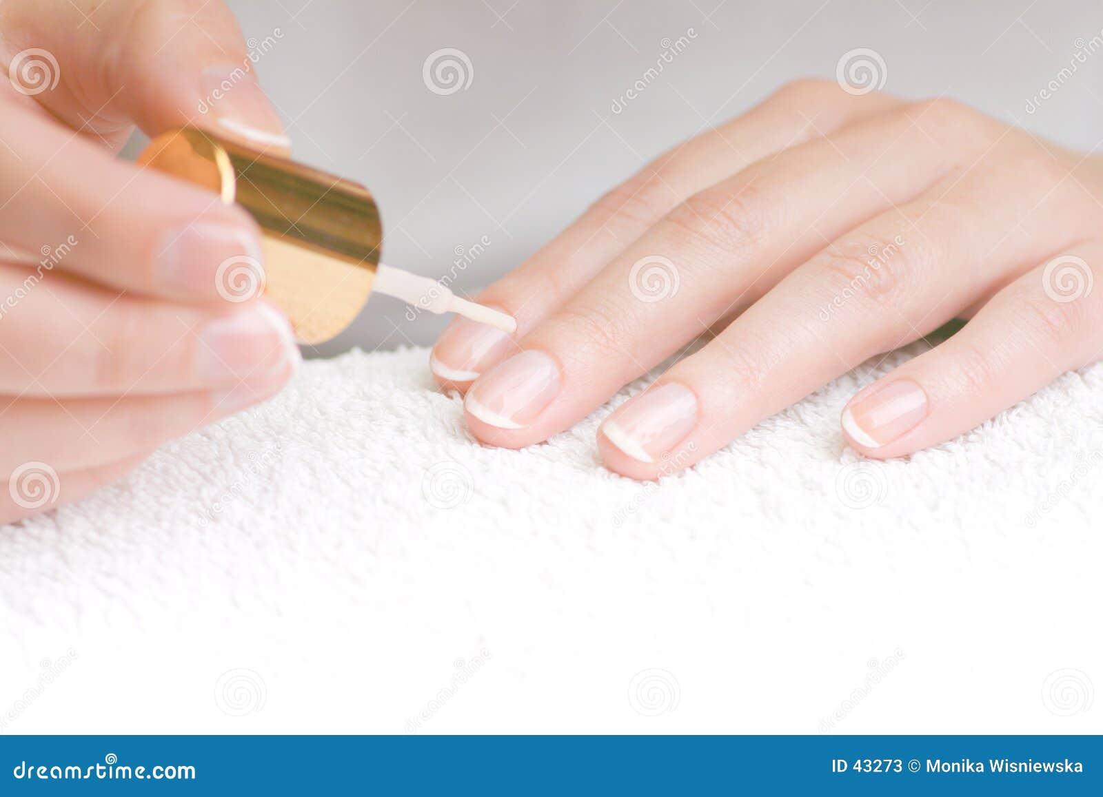 Download Francuski manicure obraz stock. Obraz złożonej z paznokieć - 43273