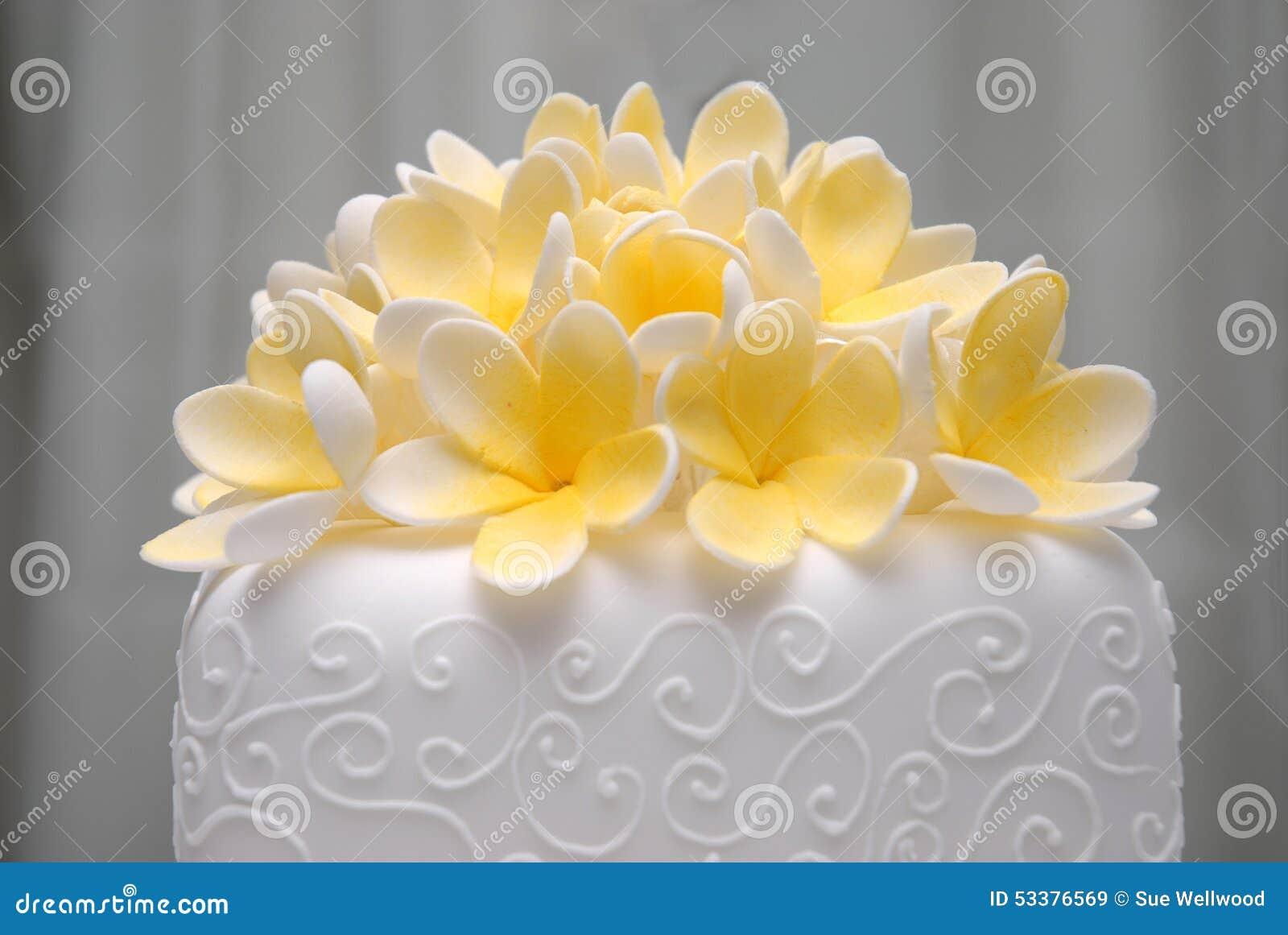 Frangapani wedding cake stock image. Image of luxury - 53376569