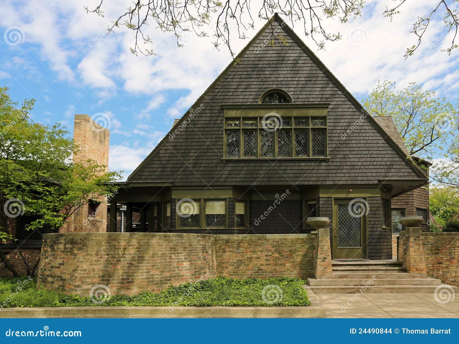 frank lloyd wright home studio stock photo image of. Black Bedroom Furniture Sets. Home Design Ideas