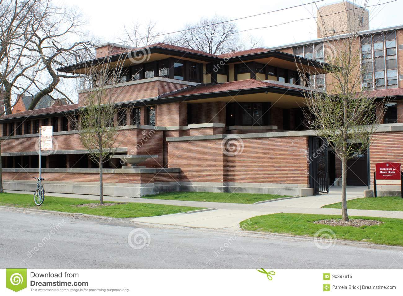 Frank Lloyd Wright Chicago Map.Frank Lloyd Wright S Robie House Chicago Editorial Image Image Of