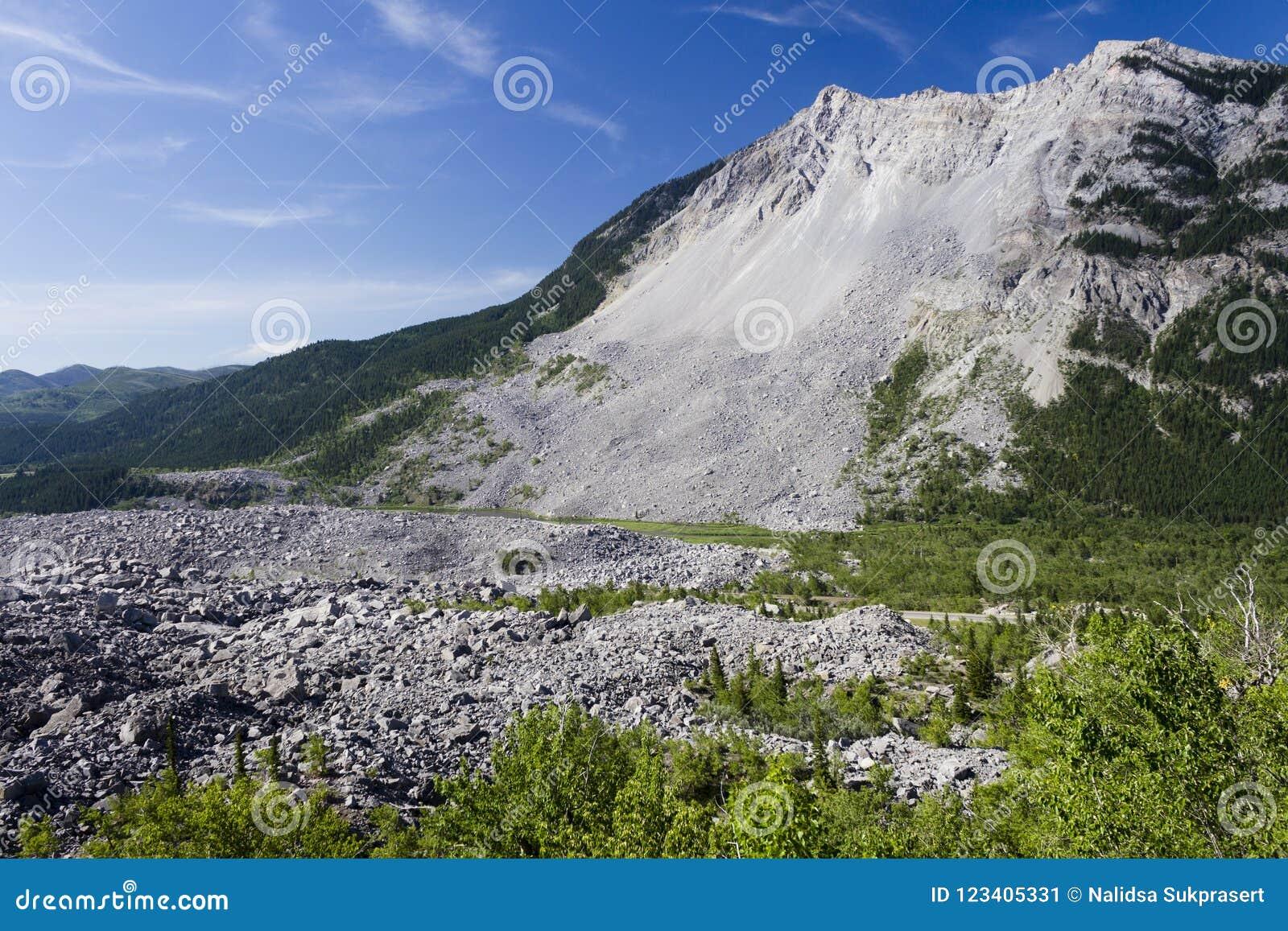 Frank Slide Mountain Landslide Αλμπέρτα