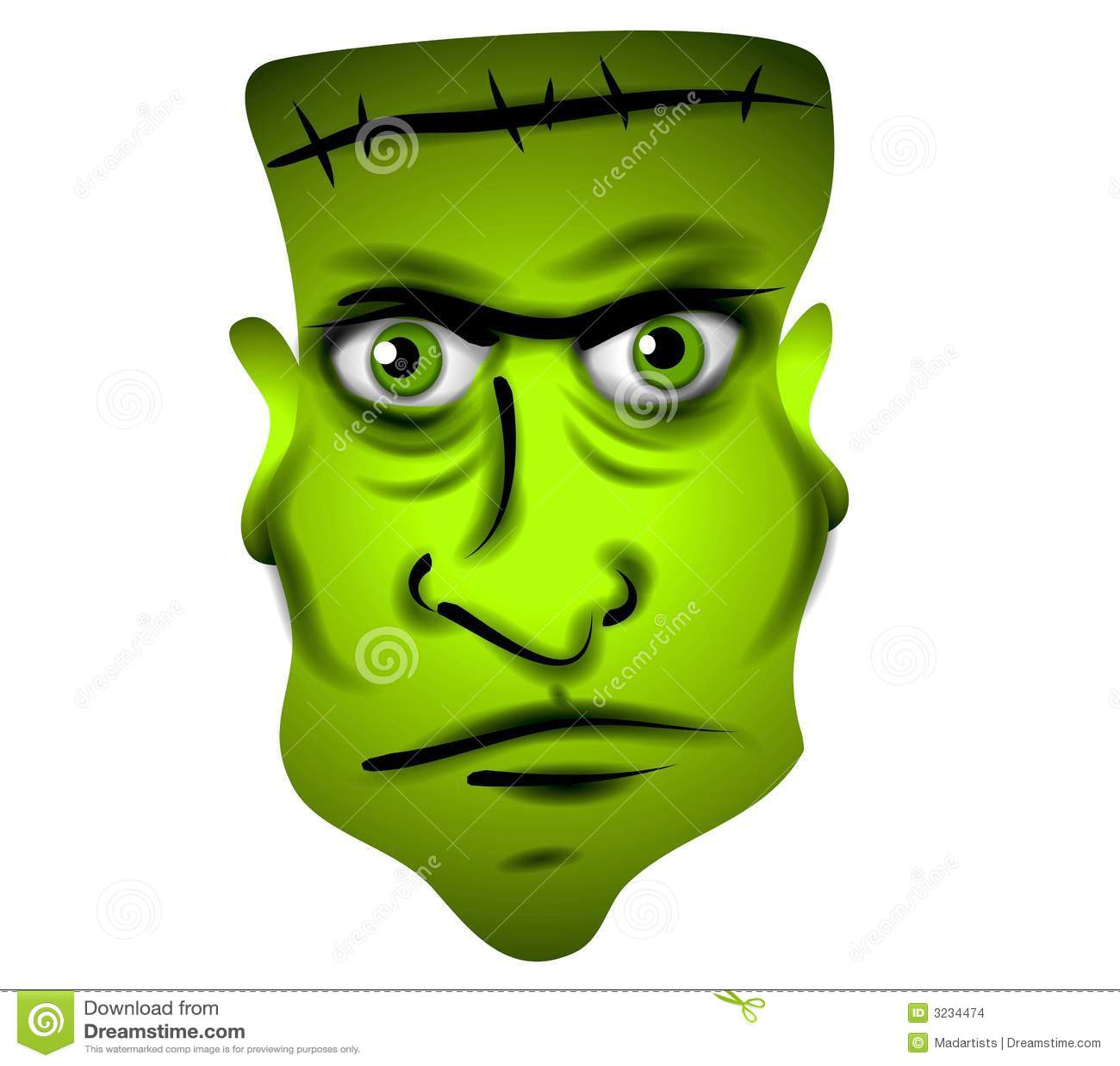 Frankenstein Face Clip Art Stock Images - Image: 3234474