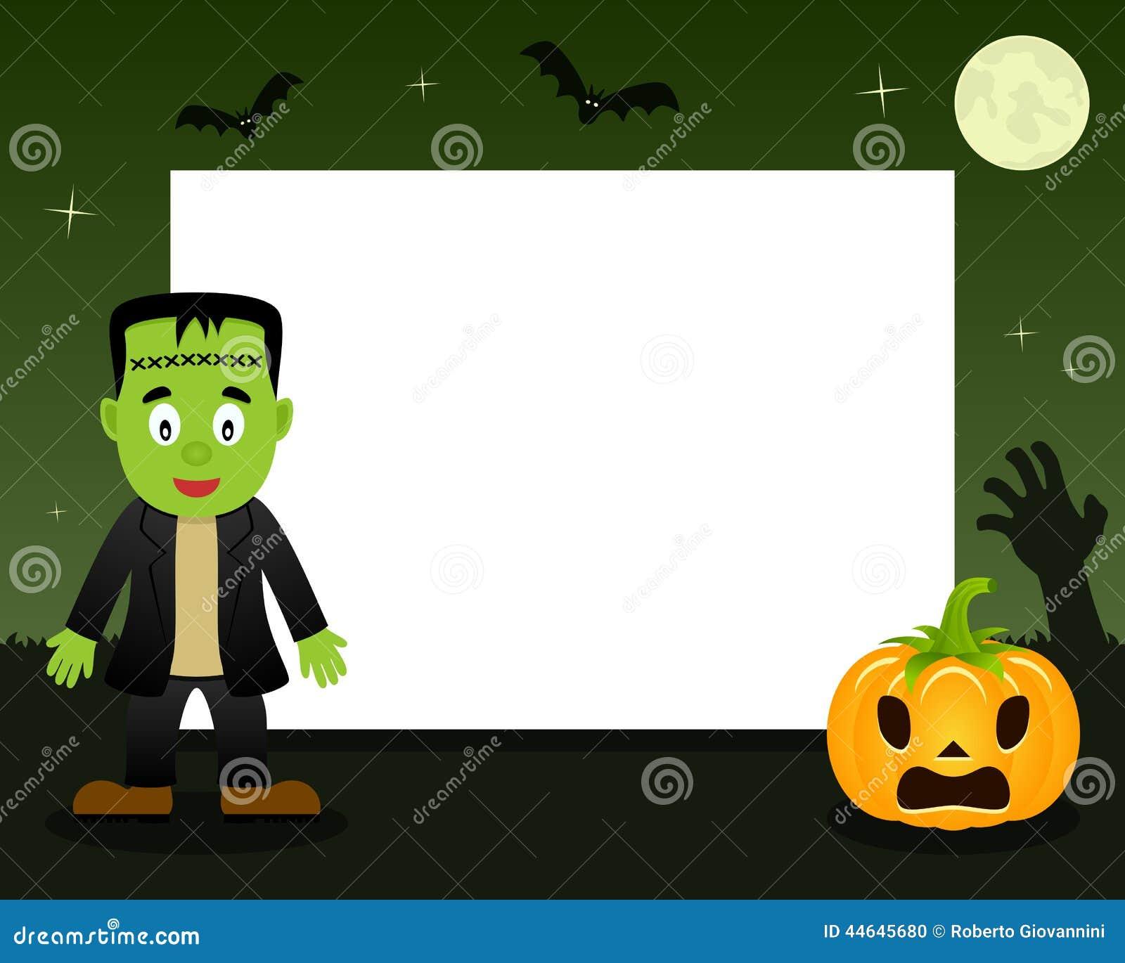 frankenstein halloween horizontal frame illustration 44645680 - megapixl