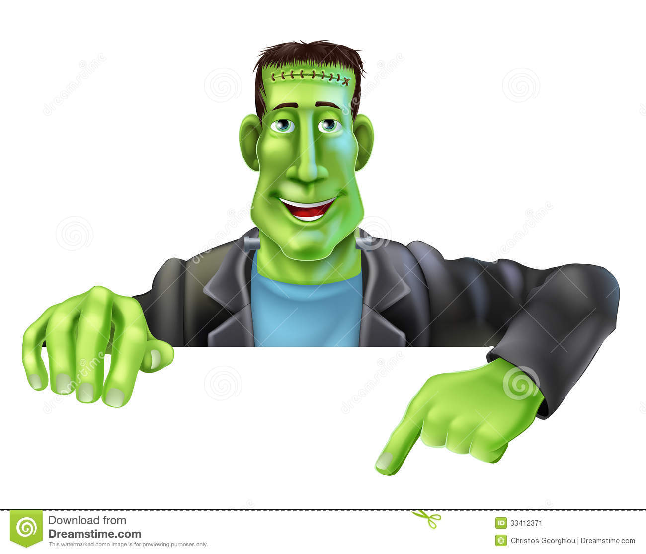 Frankenstein Witch Pointing Down Stock Image Image 33412371