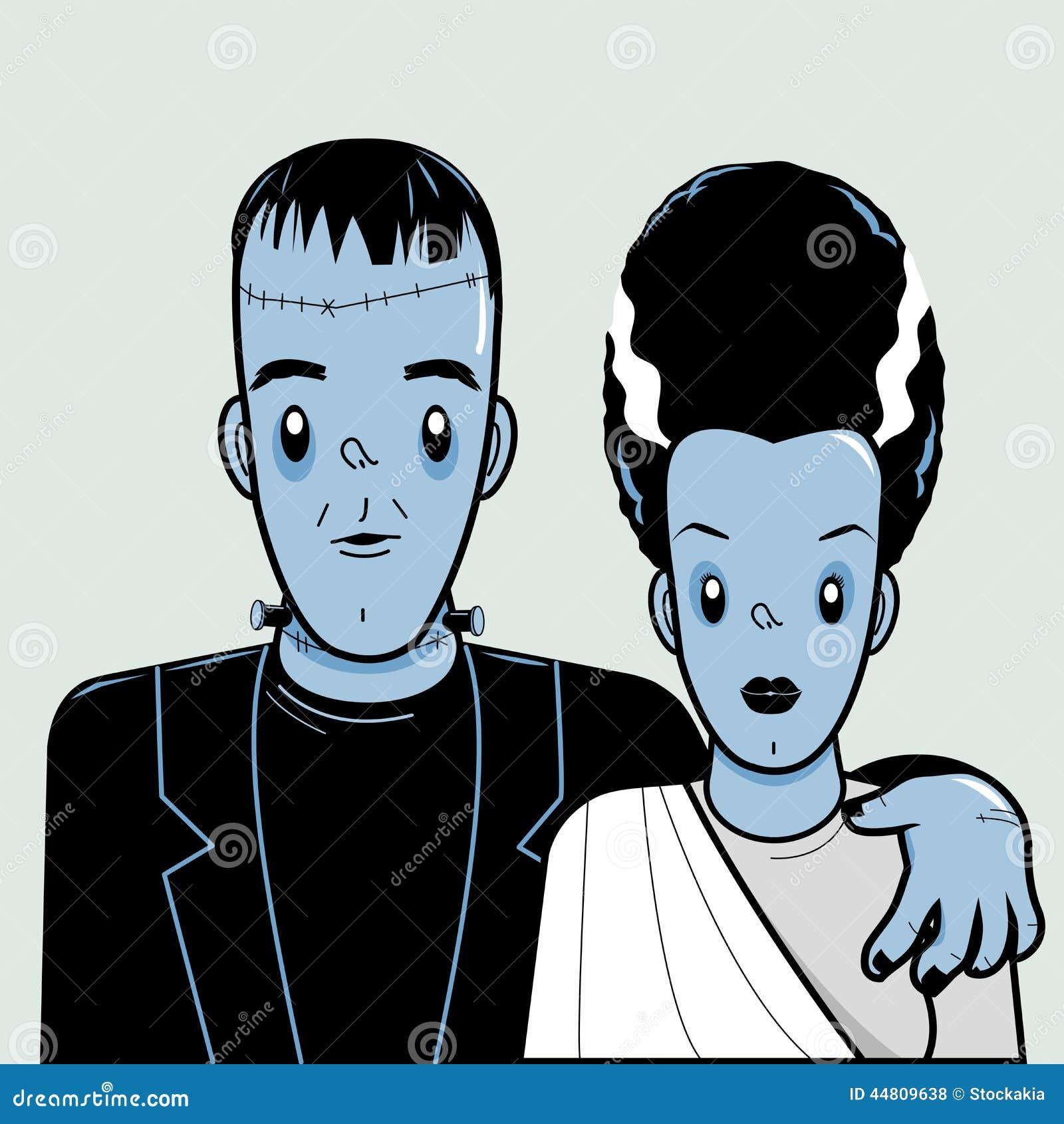 Frankenstein y novia ilustración del vector. Ilustración de novia ...