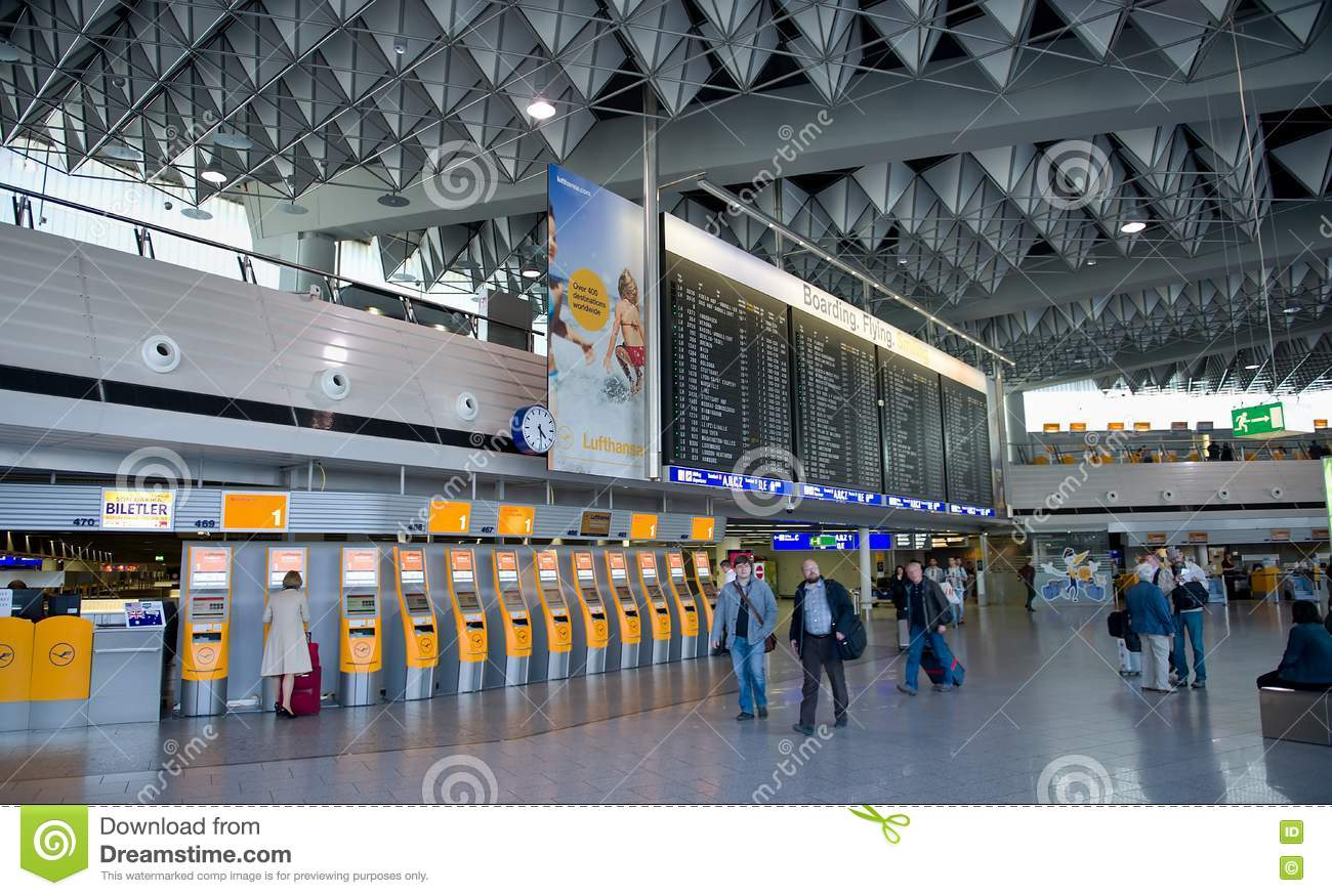 Frankfurt Airport Terminal 1 Time Tablet Editorial Photo Image Of Flying Germany 75407706