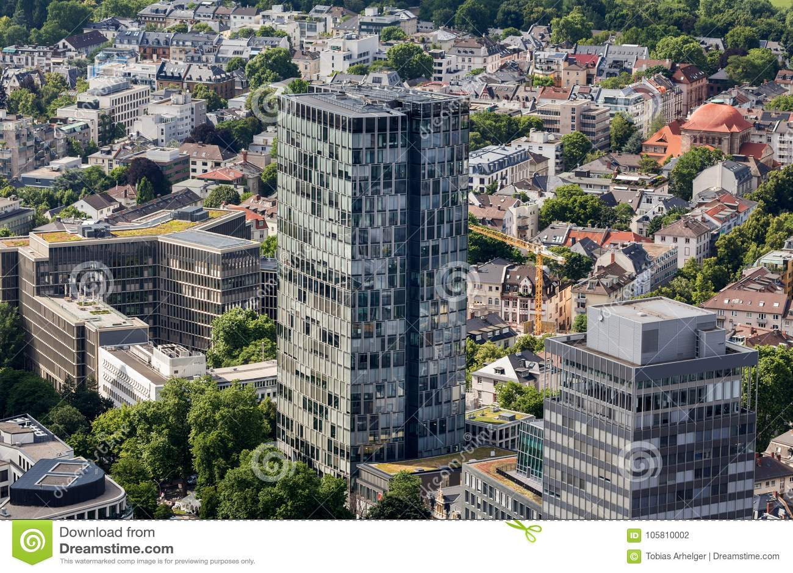Frankfurt germany from above