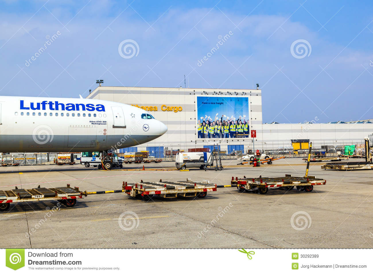 Lufthansa cargo flight ready for editorial stock image for Lufthansa direct flights to germany