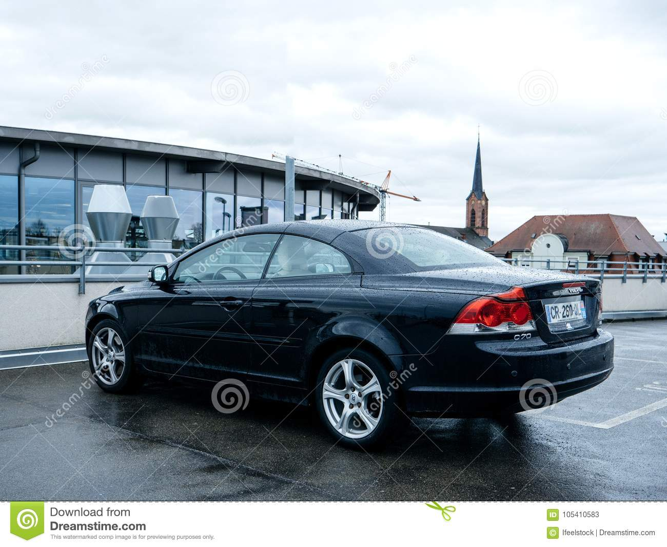 Volvo Car Parked In City C70 Cabriolet Editorial Stock Photo Image