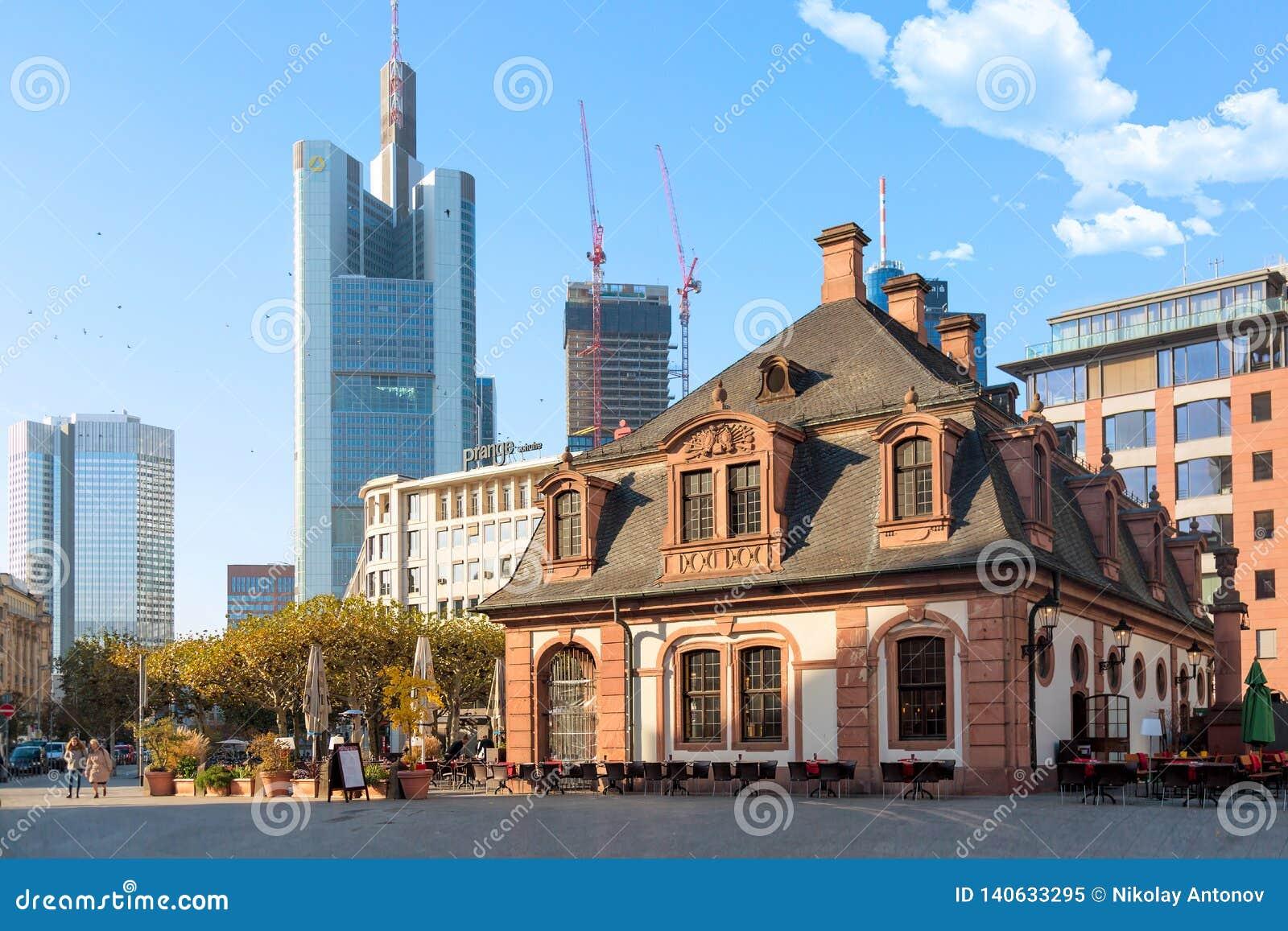 Frankfurt, Germany - November, 2018: Historic Hauptwache