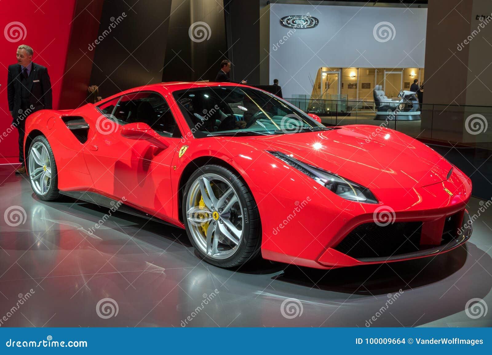 Ferrari 488 Gtb Spider Sports Car Editorial Stock Image Image Of