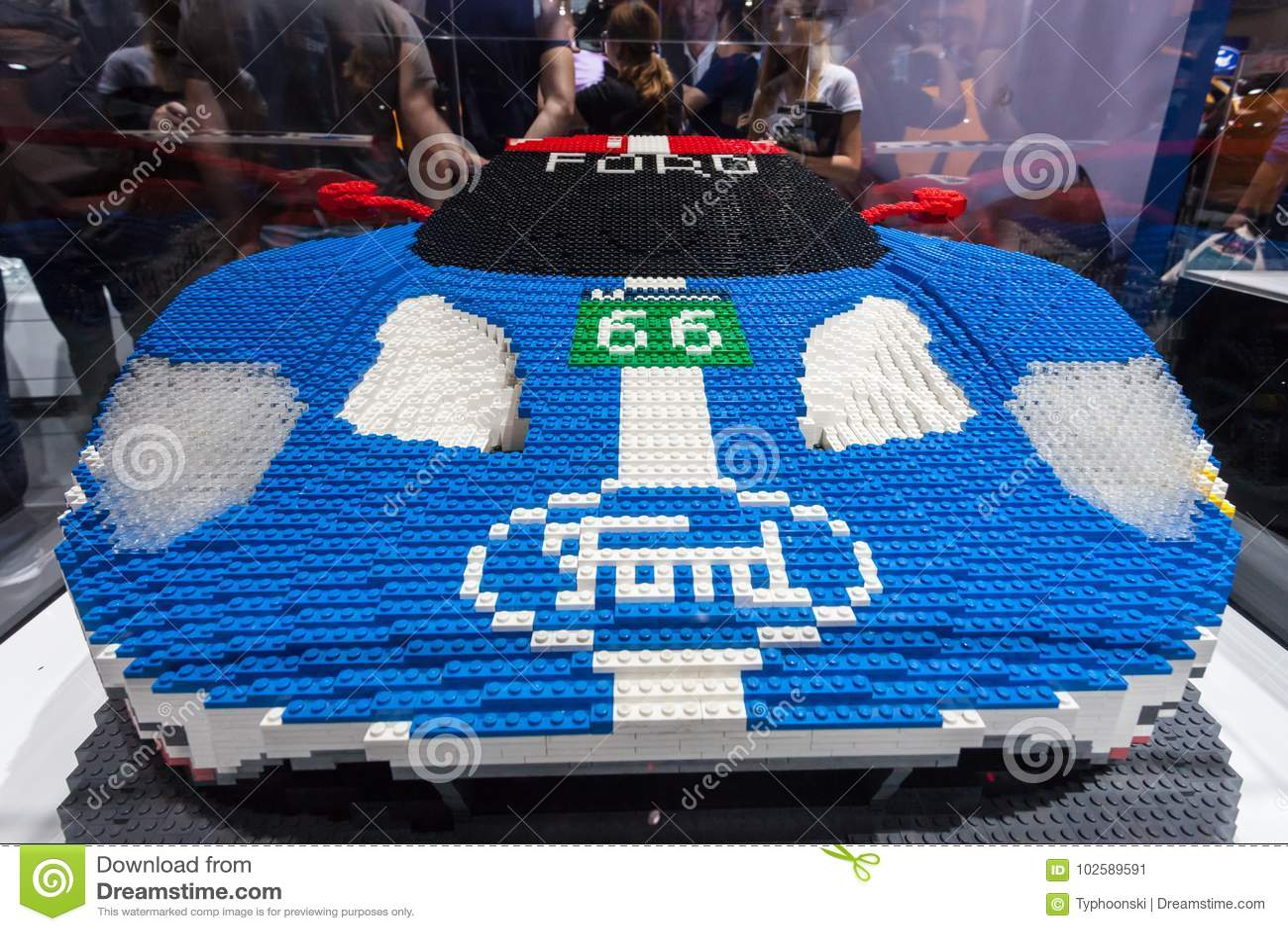 Frankfurt Germany Sep   Lego Build Ford Gt  Supercar At The Frankfurt International Motorshow