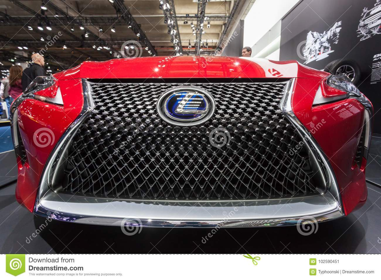 Lexus Hybrid Car Front Grill Editorial Photo Image Of Motorshow