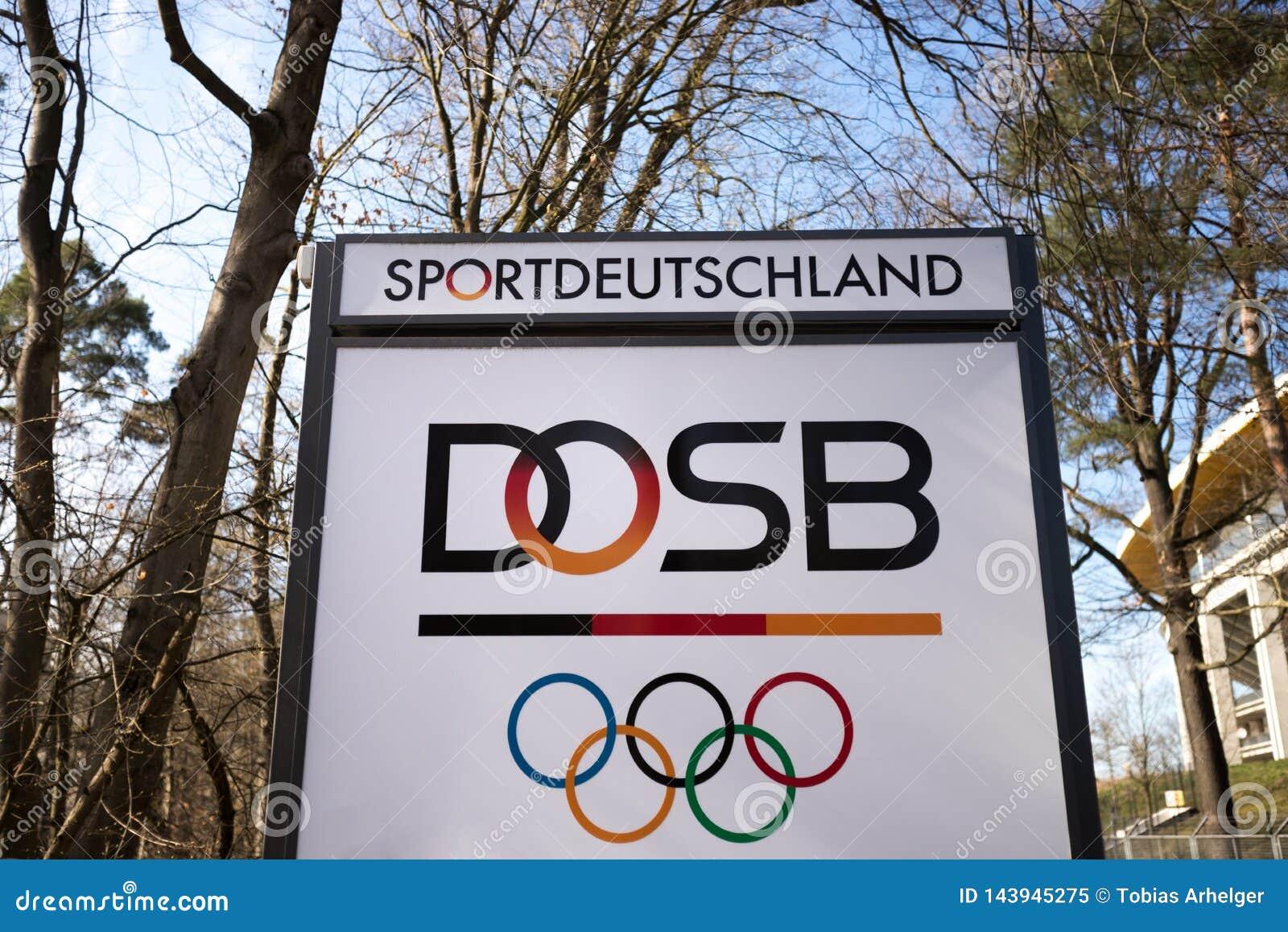 Frankfurt, Hessen/Deutschland - 22 03 19: dosb unterzeichnen herein Frankfurt Deutschland