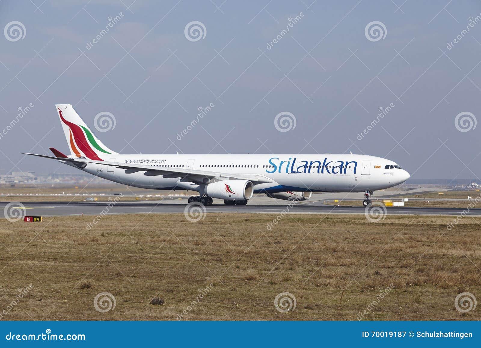Frankfurt International Airport - SriLankan Airlines Airbus A330 takes off