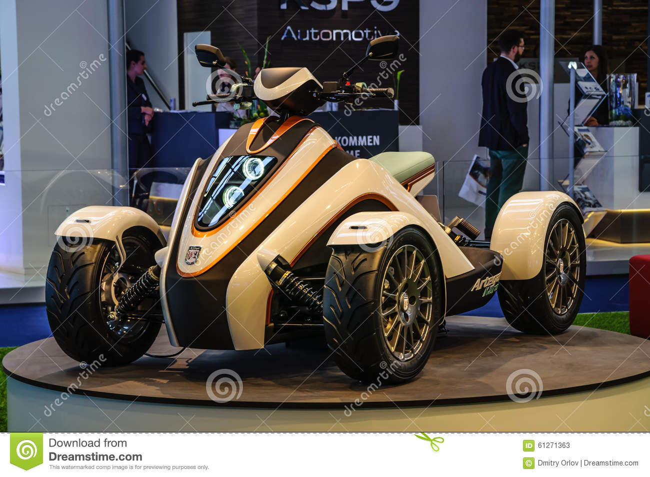 Electric bike byke near sap company booth at cebit for Who buys electric motors near me