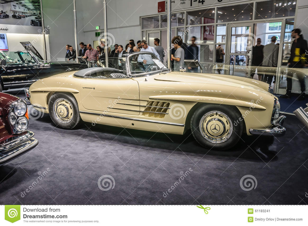frankfurt sept 2015 1957 brabus classic mercedes benz 300 sl editorial photo image 61183241. Black Bedroom Furniture Sets. Home Design Ideas