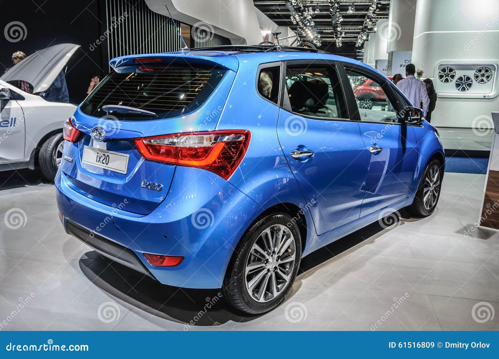 Blue Car On The Motor Show Fair Editorial Photo