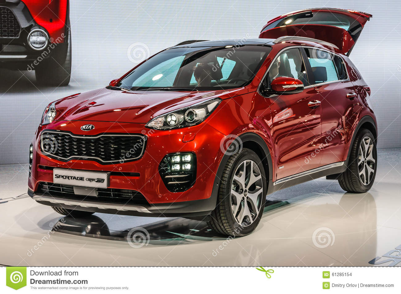 frankfurt sept 2015 kia sportage gt line presented at iaa int editorial stock image image. Black Bedroom Furniture Sets. Home Design Ideas