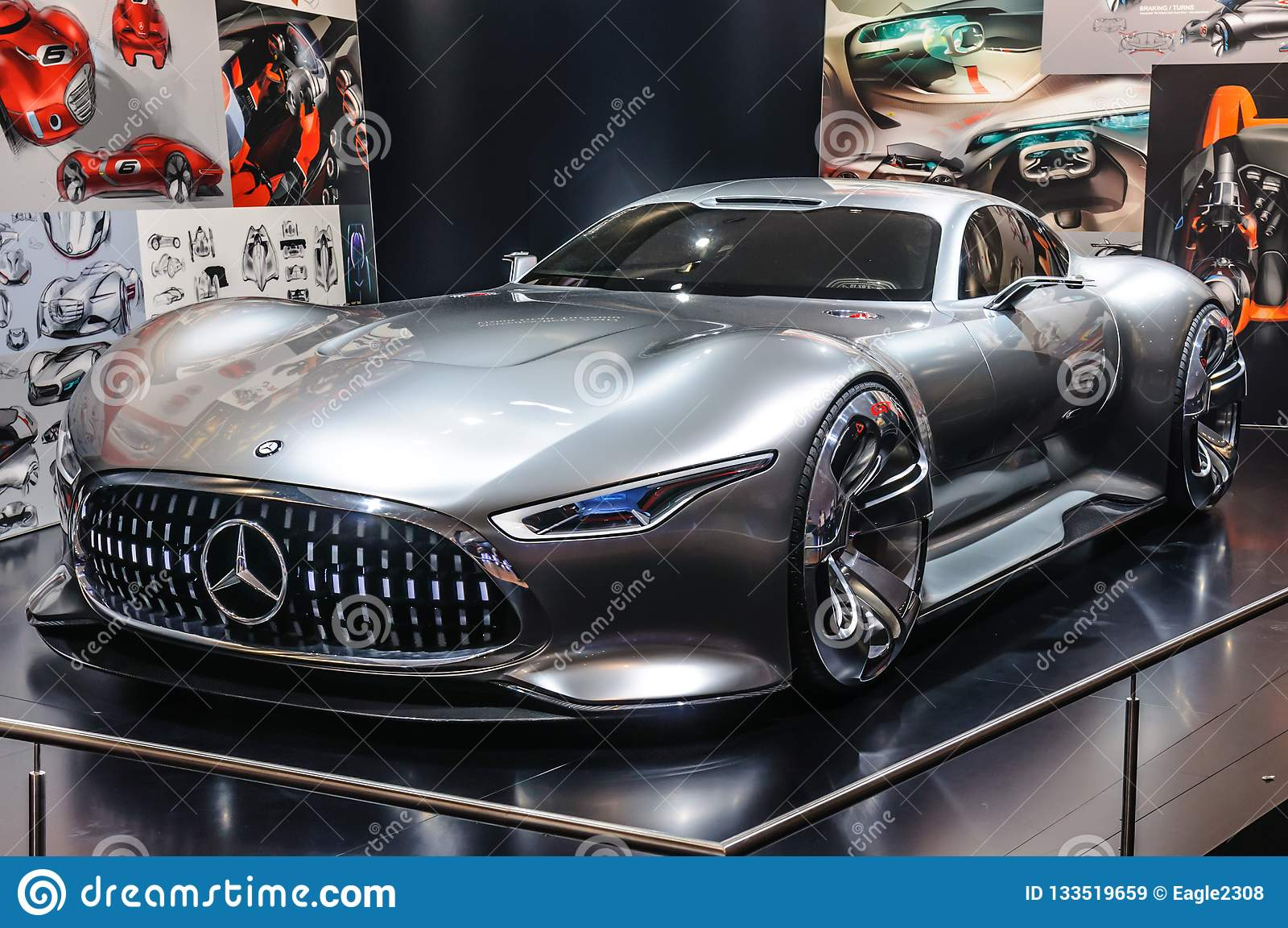 FRANKFURT - SEPT 2015: Mercedes-Benz AMG Vision Gran ...