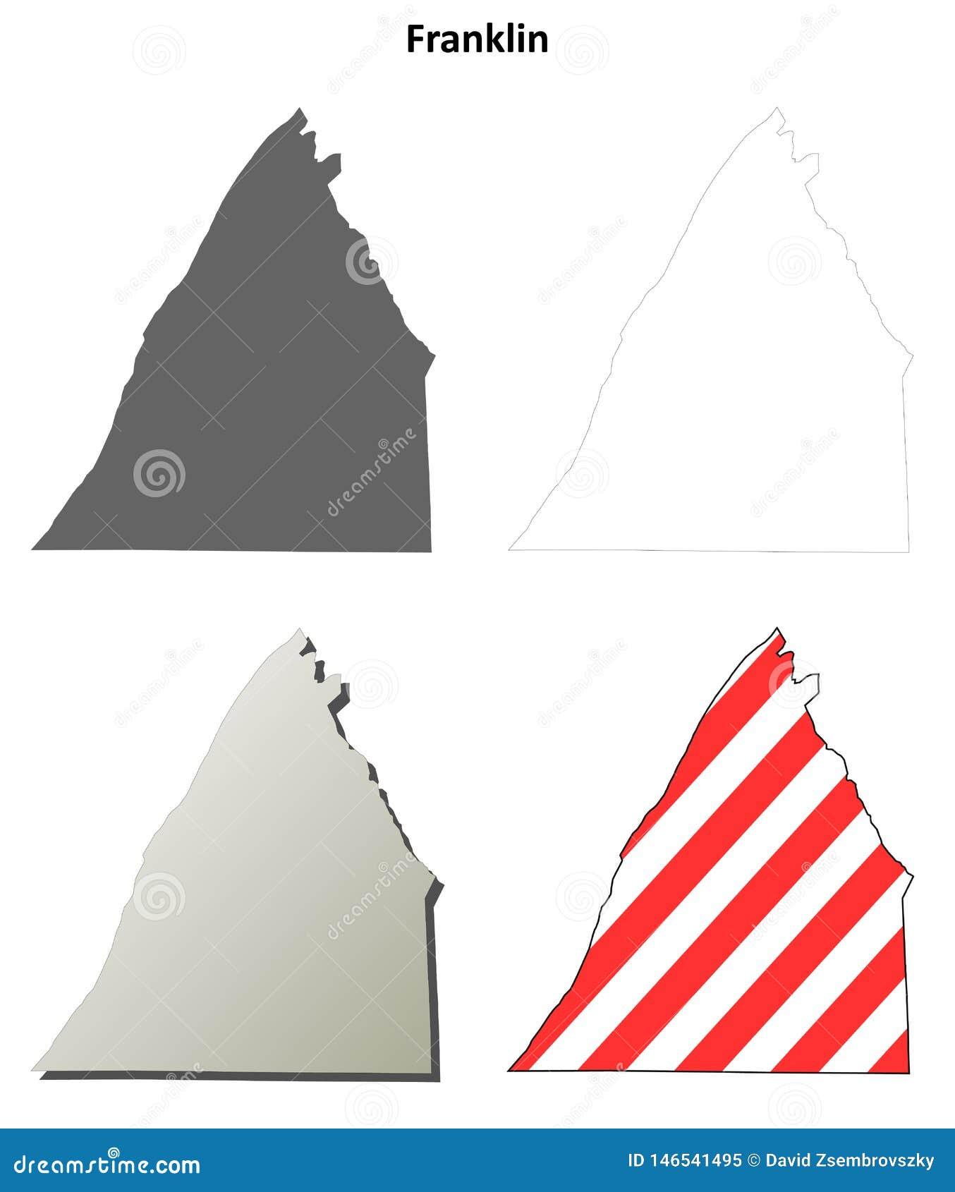 Franklin County, Pennsylvania outline map set