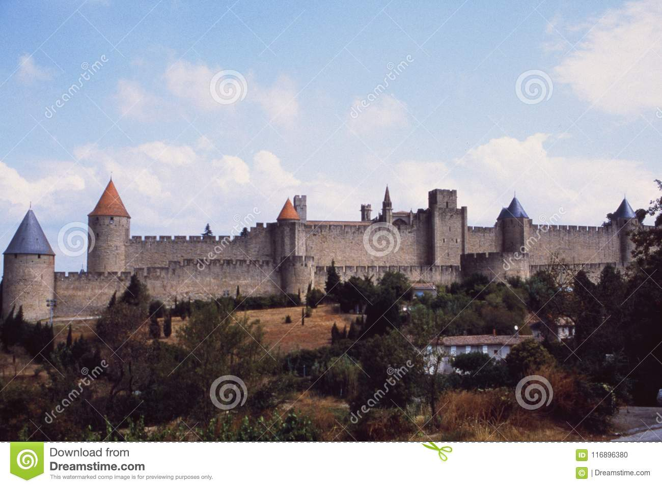 Frankreich: Chateau und Fort Carcassogne in Languedoc-Rousillon