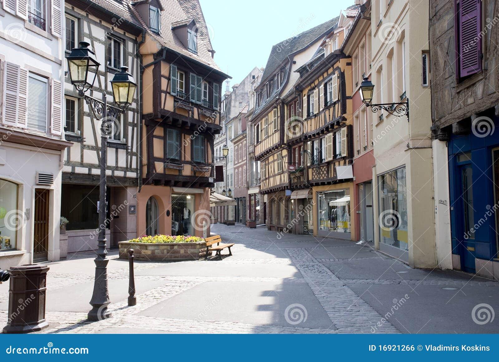 frankreich colmar mittelalterliche stadt stockfoto bild 16921266. Black Bedroom Furniture Sets. Home Design Ideas