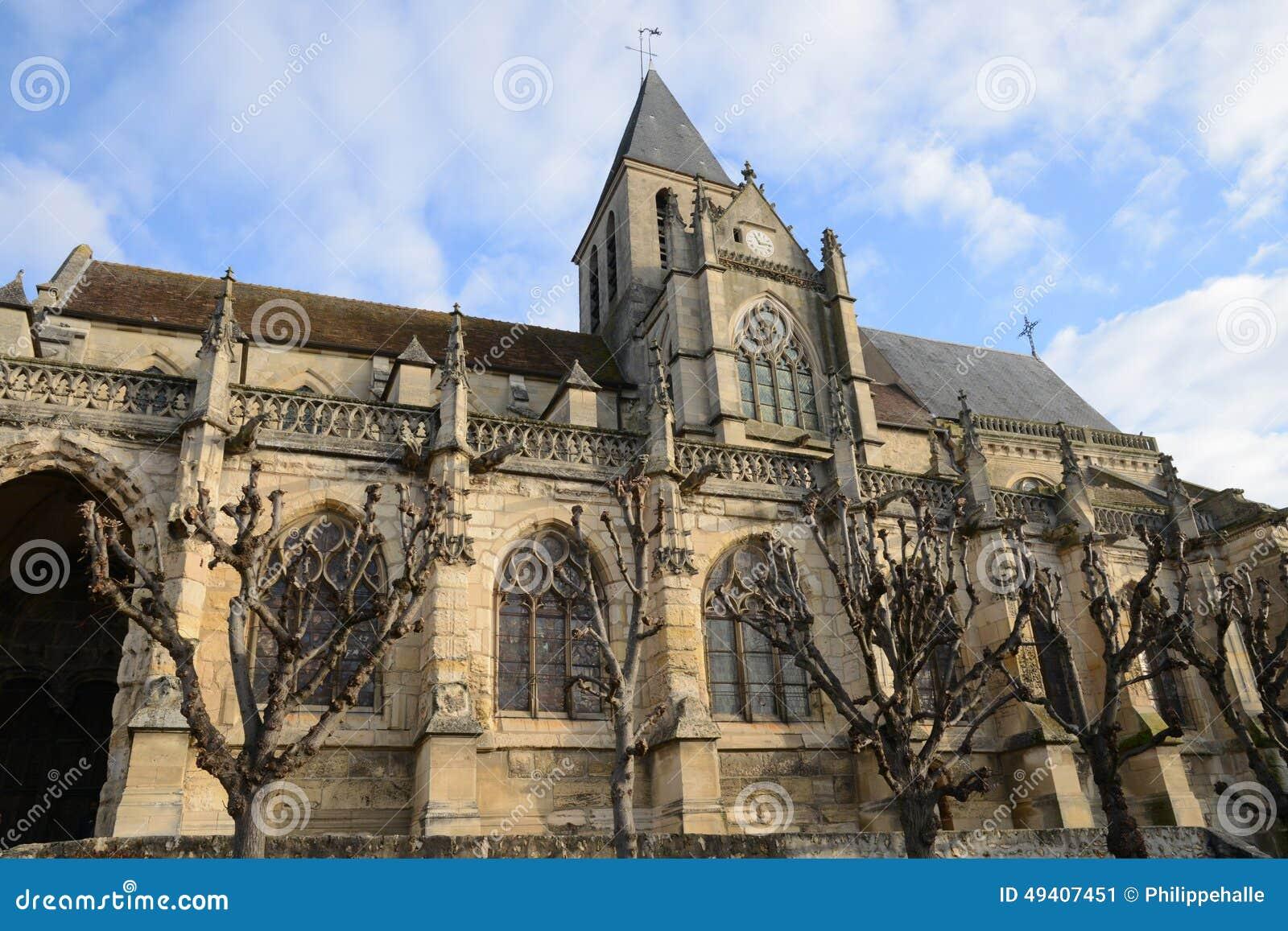 Download Frankreich, Die Historische Kirche Von Triel-sur Die Seine Redaktionelles Foto - Bild von erbe, katholisch: 49407451