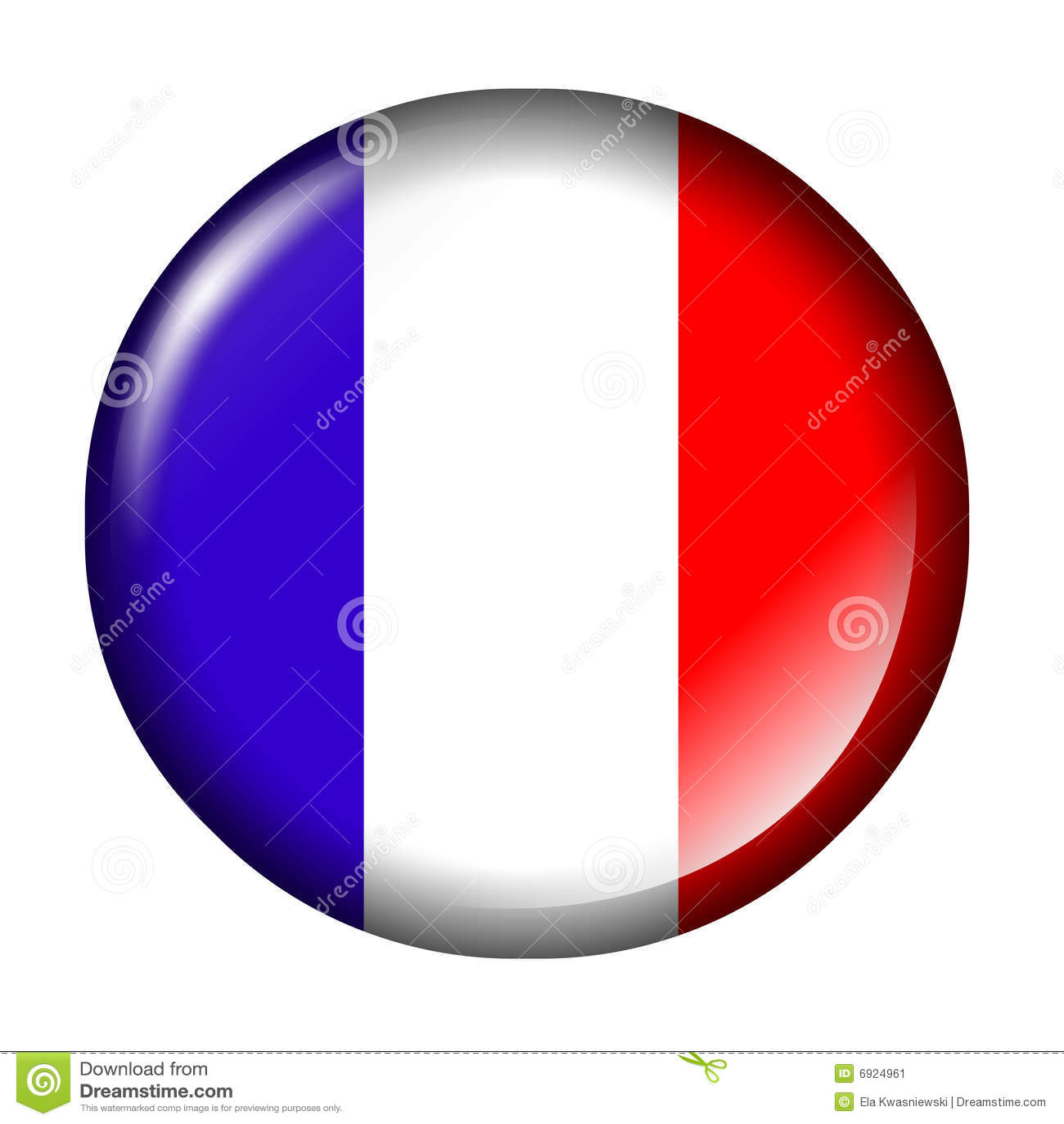 Frankreich-Markierungsfahnen-Taste Stock Abbildung