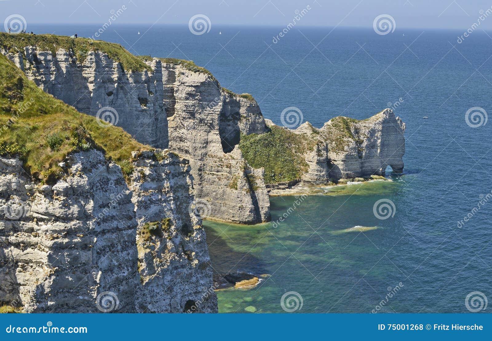 Frankrijk, Normandië, kust in Etretat