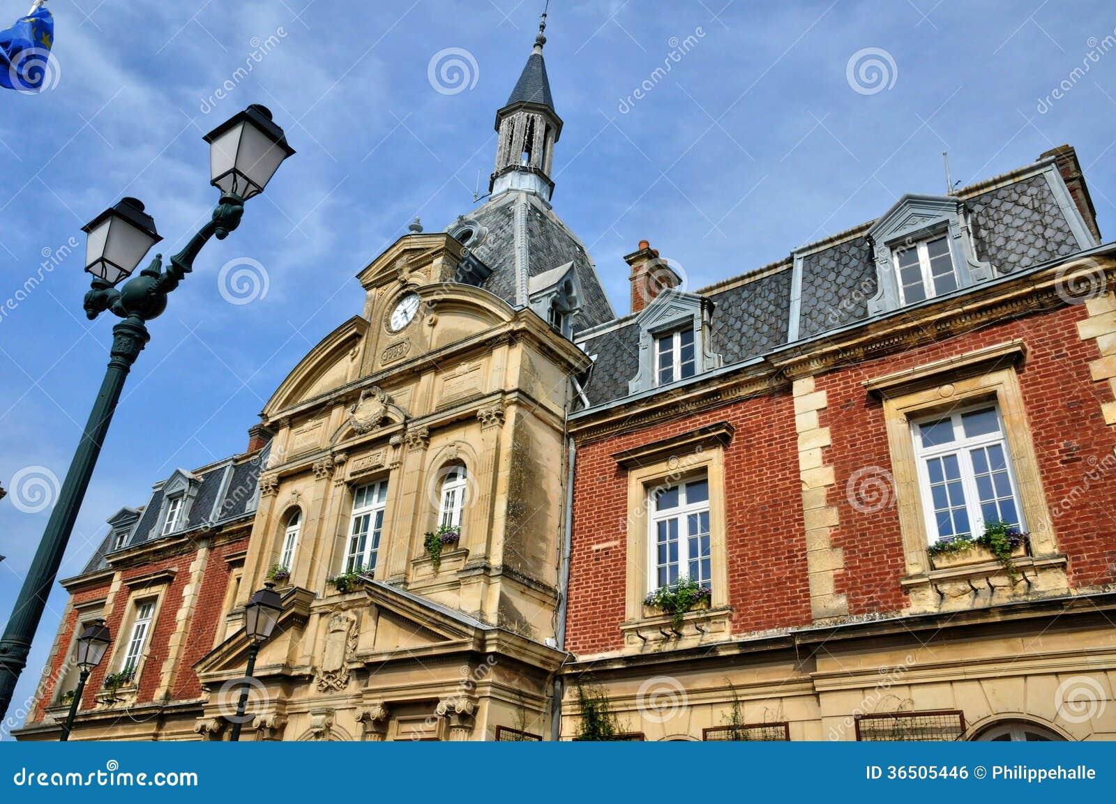Frankrike stadshus av Cabourg i Normandie