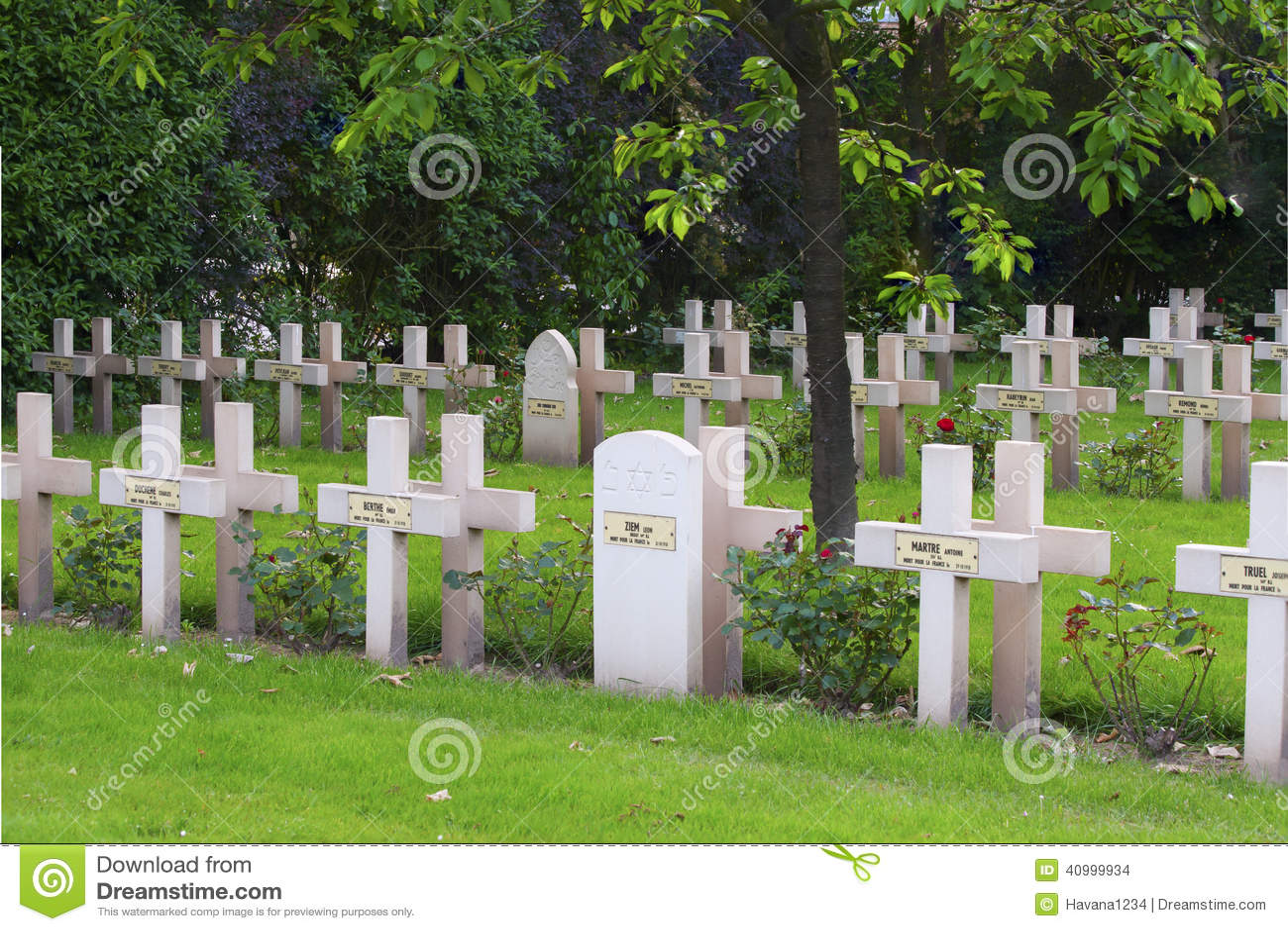 Franse begraafplaats van de Eerste Wereldoorlog in Vlaanderen België